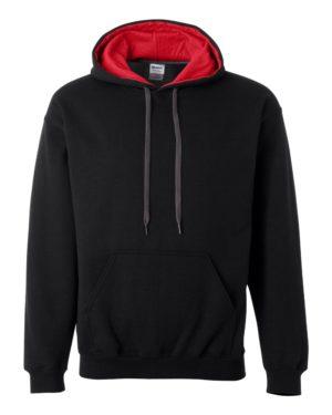 Gildan 185C00 Black/ Red
