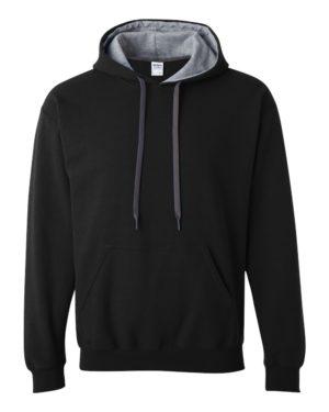 Gildan 185C00 Black/ Sport Grey