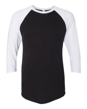 American Apparel BB453W Black/ White