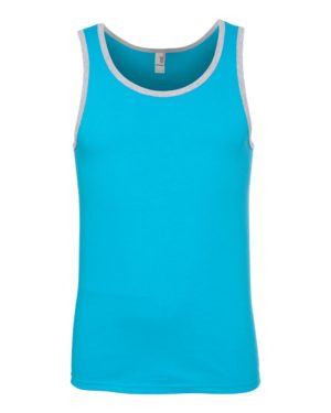 Anvil 986 Caribbean Blue/ Heather Grey