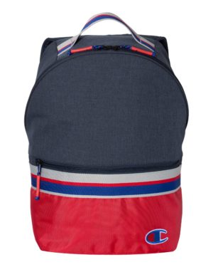 Champion CS1006 Heather Navy/ Red Scarlet