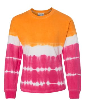 J. America 8219 Atomic Orange/ Cosmic Pink Tie-Dye