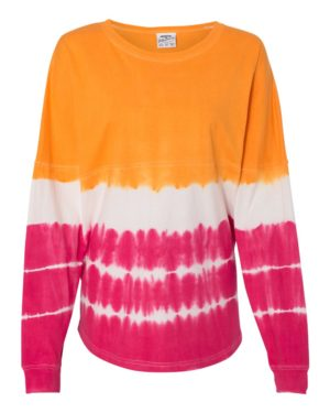 J. America 8229 Atomic Orange/ Cosmic Pink Tie-Dye