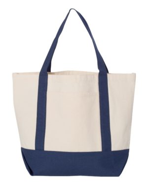Liberty Bags 8867 Natural/ Navy