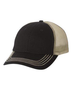 Mega Cap 6894 Black/ Khaki