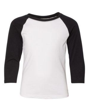 Next Level 3352 Black Sleeves/ White Body