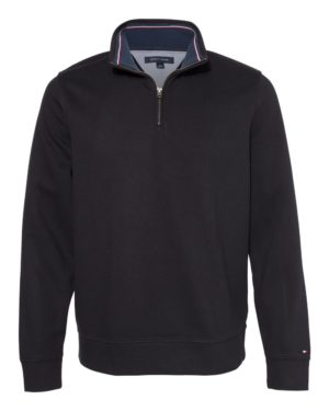 tommy hilfiger quarterzip black