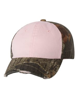 Outdoor Cap CGWT611 Light Pink/ Mossy Oak Breakup