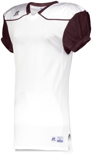 Russell Color Block Game Jersey (Away) WHITE/MAROON