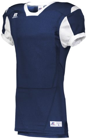 Russell Youth Color Block Game Jersey NAVY/WHITE