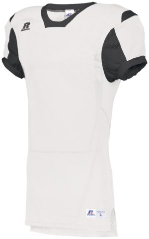 Russell Youth Color Block Game Jersey WHITE/BLACK