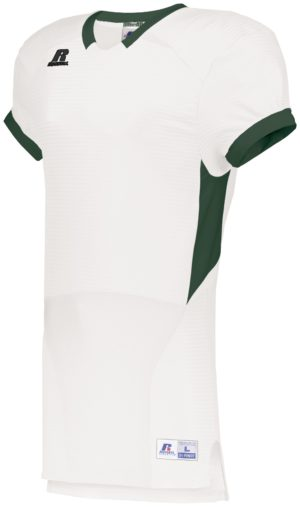 Russell Color Block Game Jersey WHITE/DARK GREEN