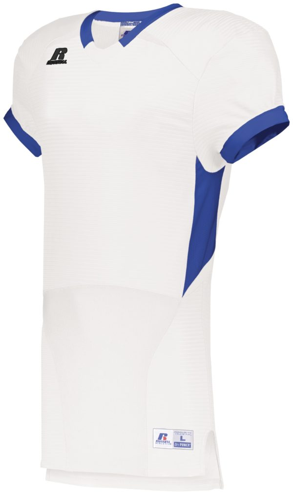 Russell Color Block Game Jersey WHITE/ROYAL