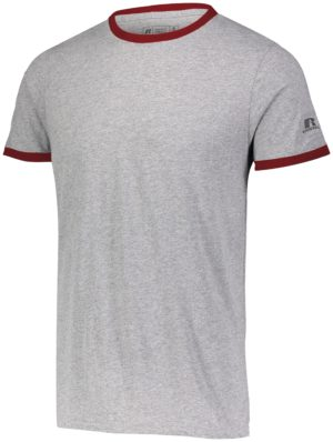 Russell Essential Ringer Tee OXFORD/TRUE RED