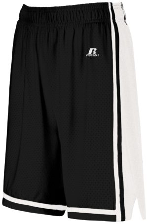 Russell Ladies Legacy Basketball Shorts BLACK/WHITE
