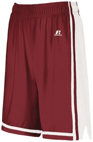 Russell Ladies Legacy Basketball Shorts CARDINAL/WHITE