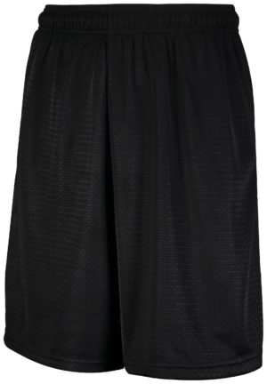 Russell Mesh Shorts With Pockets BLACK