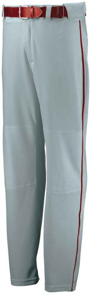 Russell Youth Open Bottom Piped Pant BASEBALL GREY/TRUE RED