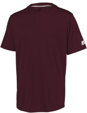 Russell Youth Performance Two-Button Solid Jersey MAROON