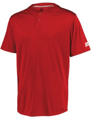Russell Youth Performance Two-Button Solid Jersey TRUE RED