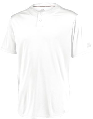 Russell Youth Performance Two-Button Solid Jersey WHITE