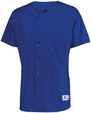 Russell Raglan Sleeve Button Front Jersey ROYAL