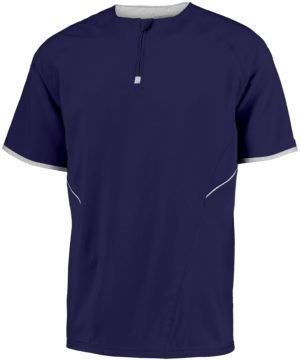 Russell SHORT SLEEVE PULLOVER PURPLE/WHITE