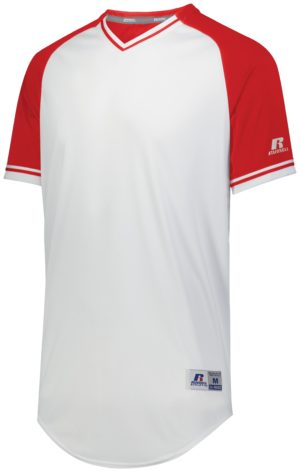 Russell CLASSIC V-NECK JERSEY WHITE/TRUE RED/WHITE