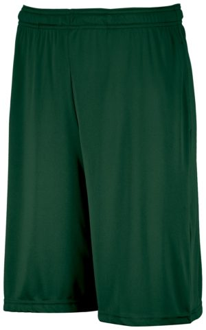 Russell Dri-Power¨ Essential Performance Shorts With Pockets DARK GREEN