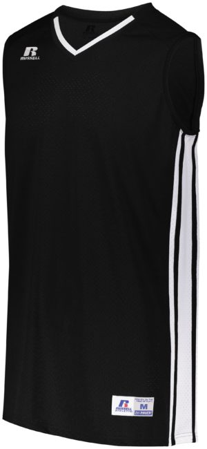 Russell Legacy Basketball Jersey BLACK/WHITE