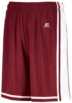 Russell Legacy Basketball Shorts CARDINAL/WHITE