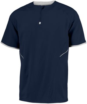 Russell SHORT SLEEVE PULLOVER NAVY/WHITE