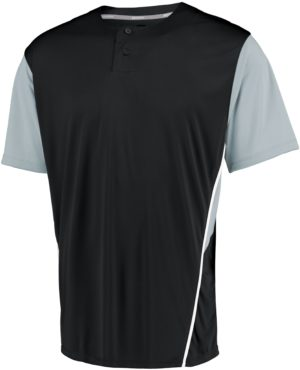 Russell Performance Two-Button Color Block Jersey BLACK/BASEBALL GREY