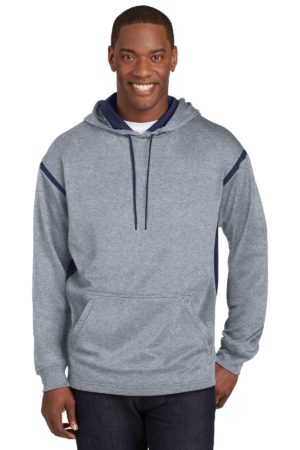 Sport-Tek F246 Grey Heather/ True Navy