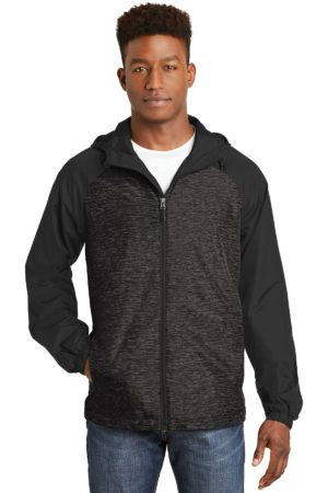 Sport-Tek JST40 Black Heather/ Black