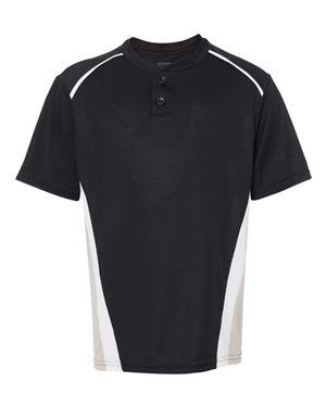 Augusta Sportswear 1526 Black/ Silver Grey/ White