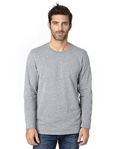 Threadfast Apparel 100LS HEATHER GREY
