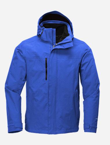 bulk north face layered jacket